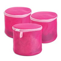 Recommed use durable zipper bra round shape mesh bags