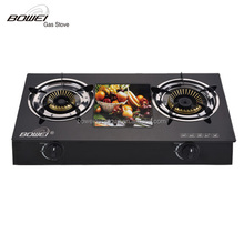 Double burner Gas Stove with glass top panel BW-BL2005