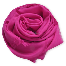 Hot selling fashion scarf 80 plain pure wool scarf for lady SWR0012 super thin scarf