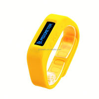 Smart wrist band with steps counter and sleep monitor