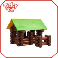 Baby Funny Compressed Bulk Block Sets Miniature Wooden Toy House