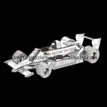 New models Jigsaw puzzle type Formula Car F102 Educational 3d metal puzzle