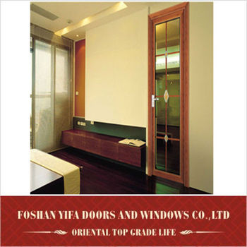 2014 YiFa beautiful high quality aluminum interior single glass doors for bedroom