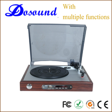 Multi-choices turntable cd record cassette radio player with customized logo