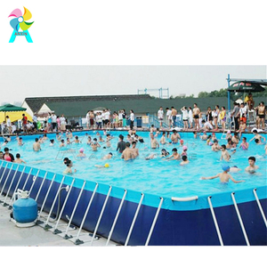 Factory Price PVC Inflatable Water Park Game Equipment Rectangle Metal Frame Swimming Pool For Sale