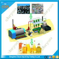 Environmental and safety dispose used tyre and plastic pyrolysis plant