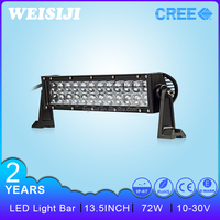 HLE High quality 4D dual row 13.5 inch 72w amber led lightbar for AUTO suv atv jeep