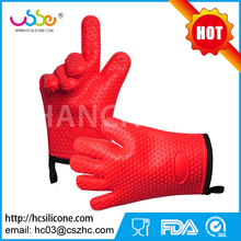 Anti Slip Finger Baking Heat Resistant Manufacturer Custom Kitchen Household Oven Rubber Silicon Disposable Safety Cotton Glove