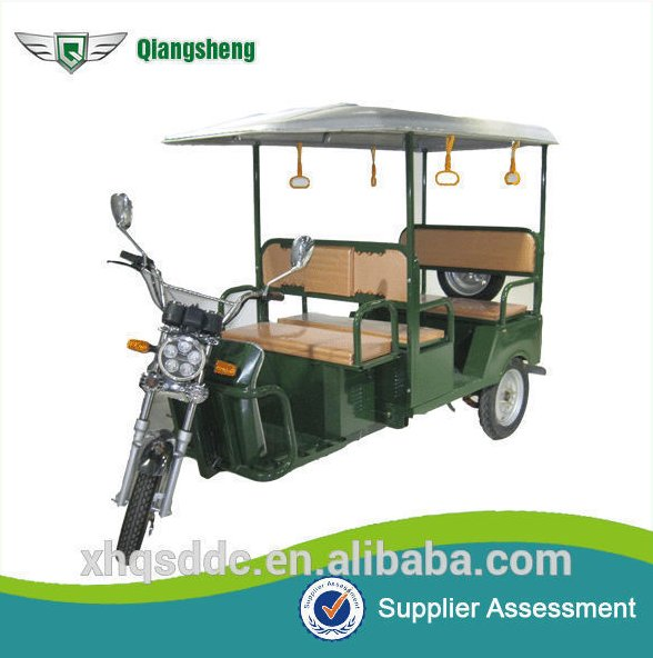 2016 Abs roof 800w motor indian battery powered electric auto rickshaw for sale