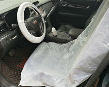 Disposable durable fancy custom plastic seat cover and foot mat for car/pet car