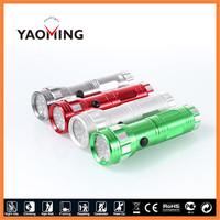 Aluminium Lanterna Mini 3 AAA Carbon Battery Size 14 Leds Flashlight YM-814F with Cool White Emitting Color
