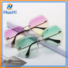 2017 Latest wholesale sunglasses china cat 3 uv400 rimless sunglasses