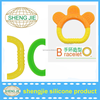 015 Hot Sale BPA free fruit shaped silicone baby teethers