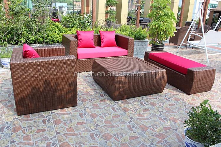 Modern cheap comfortable wicker rattan outdoor sofa set for Cheap modern outdoor furniture