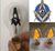 Free shipping flame flicker bulb A60 , Masonic bulb