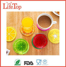 Unique Design Kitchen Gadget Fruit Silicone Drink Coasters Set of Six