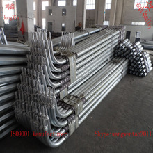 6.5 galvanized conical lighting pole