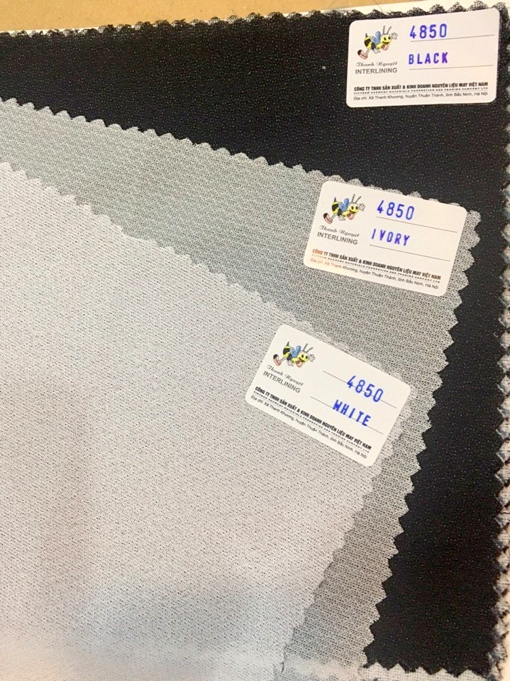 100% interlining fusible buckram/woven interlining for trousers