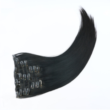 High quality 100% real indian human hair 20 inch 22 inch 220g thick end remy clip in hair extension