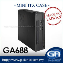 GA688 High Quality Car PC Chasis Mini ITX Cabinet Computer Case