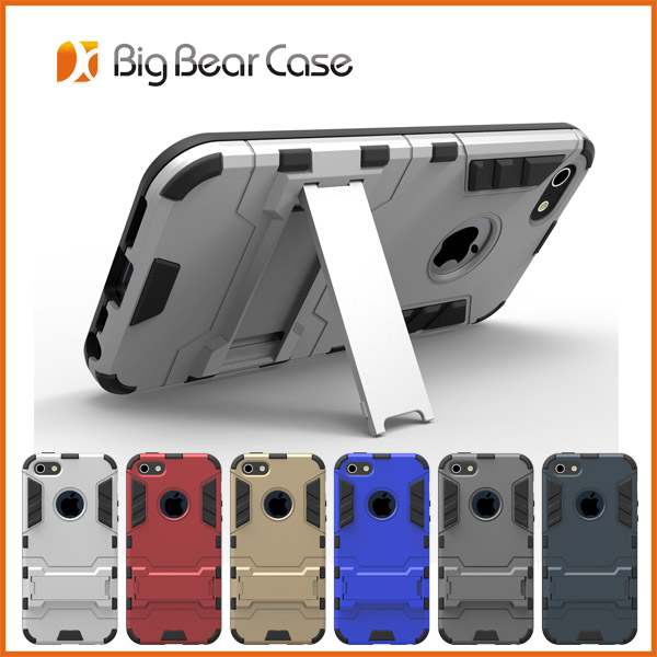 Kickstand tpu pc cover case for iphone se case
