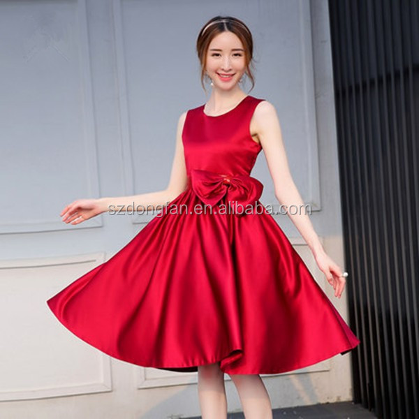 Mom And Daughter Red Dress Summer Clothing For Mother And Daughter Cotton Mixed Dress Girls Pretty Style Print Flowers Dresses