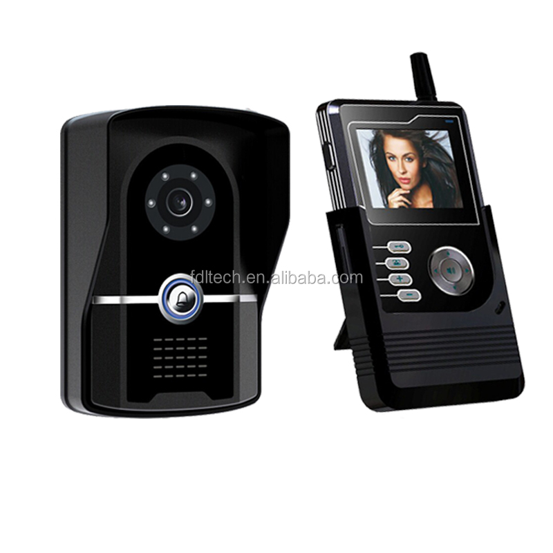2.4G Intercom Wireless Video Door Phone with 600m super long transmission distance and clear night vision