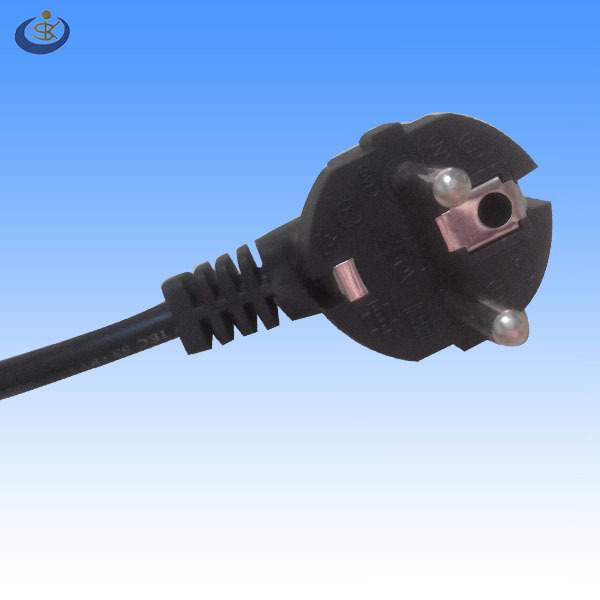 CE VDE ROHS approval Alibaba hot sale schuko germany H05VV-F 1.0mm2 power cord to IEC C13 for industrical equipment