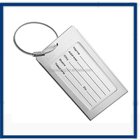 Wire rope ring/luggage tag rope