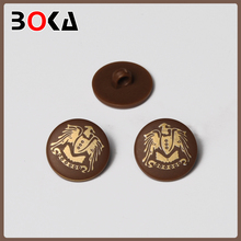 Factory price fancy plastic buttons with UNION back for overcoat