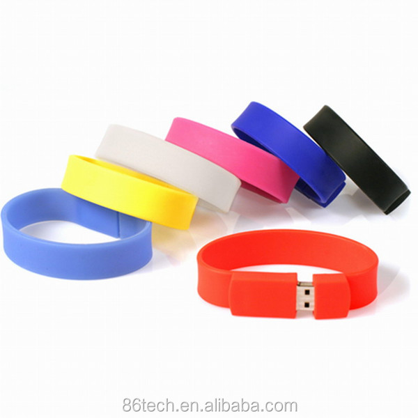 2016 pvc bracelet usb flash , hand band usb flash drive