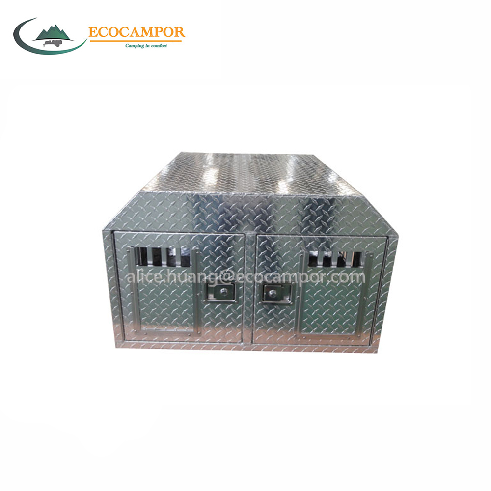 Truck aluminum dog box tool box with top storage