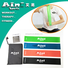 "12""x2"" Excellent quality 4pcs Custom printed resistance bands,fitness exercise bands for Working Out or Physical Therapy"
