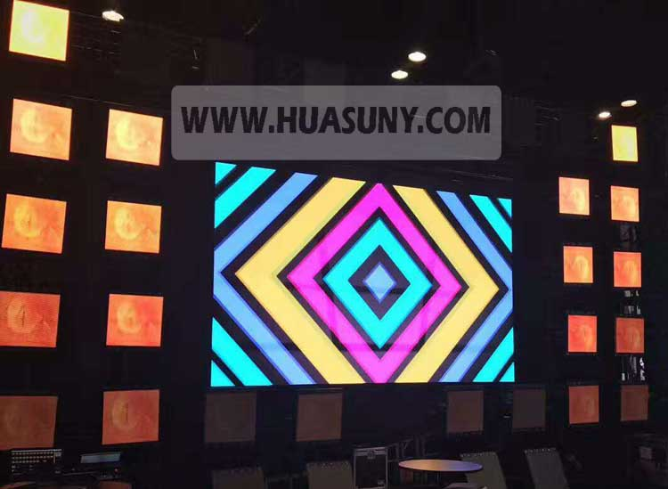 moving led head creative stage led panel Huasuny