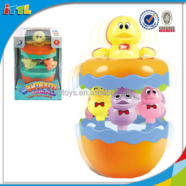 B/O Tumbler Toy For Small Baby With Music Funny Plastic Tumbler Toy