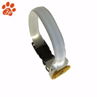 Pet accessory led dog collar light LED pet collar Nylon with Smile