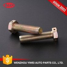 Professional customization high tension special fasteners yellow zinc plated hex bolt