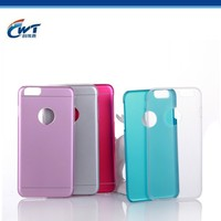 China supplier CWT fancy two in one aluminum phone case supplier for iphone 6