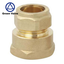 Green Guten-top China Factory High quality 3/4 Femail connection copper crimp fittings brass pex fitting