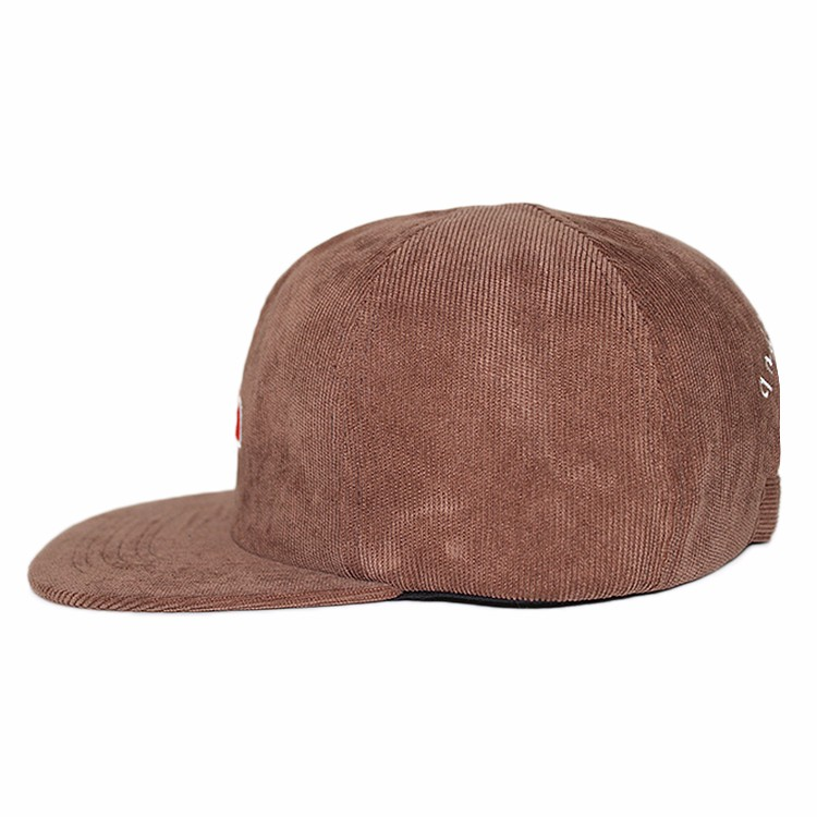 custom corduroy fabric snapback hat and cap ,flat embroidery patch snapback hats wholesale,custom hats