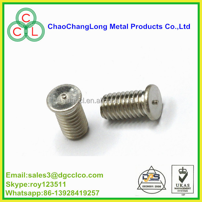 stainless steel 304/ A2 self welding stud and screw production