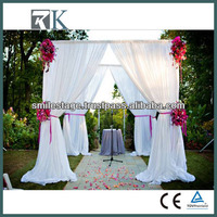 RK white lace curtains