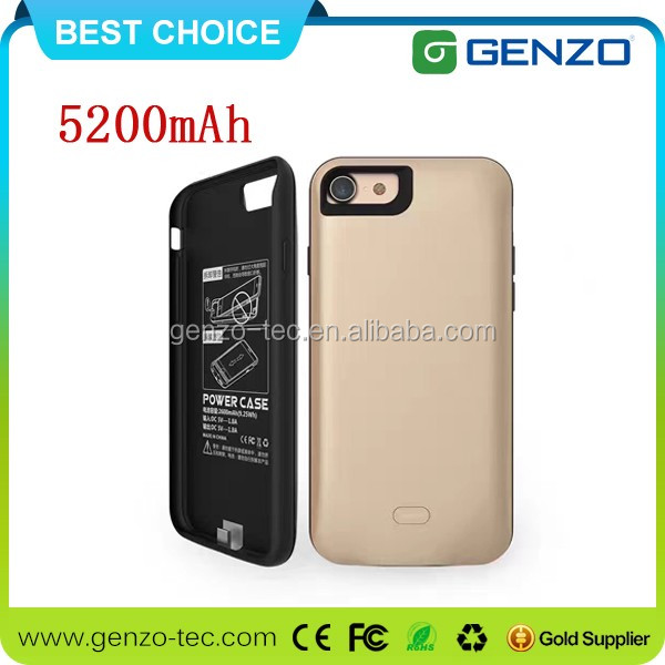 New Arrival 5200mAh extended Power Bank Case For Iphone7