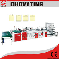 CW-800ZD polythene shopping die cut handlebag making machine