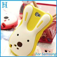 Cute 3d silicon animal case for samsung galaxy note 2 n7100