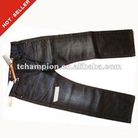 (#TG189M) 2012 latest design button fly closure coated jeans wholesale