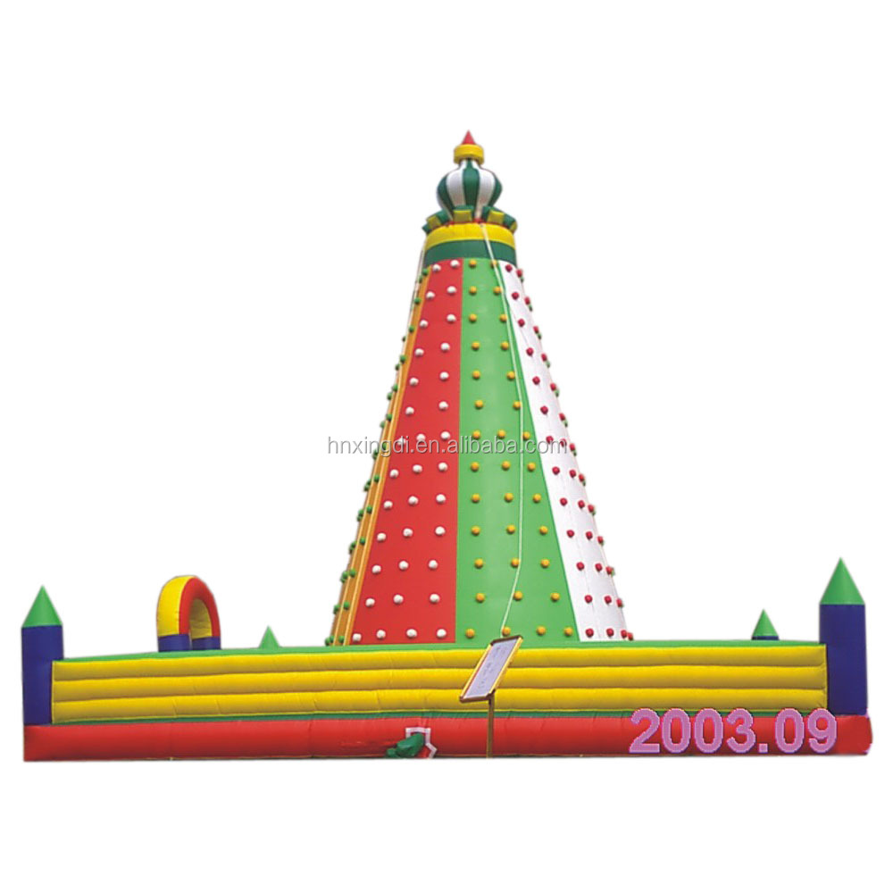 High quality amusement park sports games children inflatable rock climbing wall