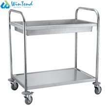 Stainless steel tea and juice service trolley for restaurant