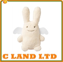 "13"" plush rabbit with polyester T-shirt for sublimation printing"