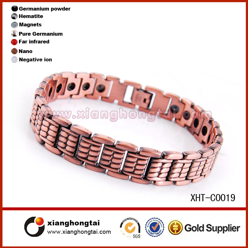 Factory selling directly brass magnetic copper bracelet